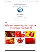Đềtài : Chiến lược Marketing cho sản phẩm bánh trung thu Kinh Đô doc