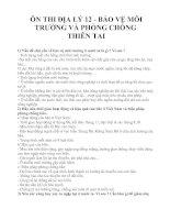 ÔN THI ĐỊA LÝ 12 - BẢO VỆ MÔI TRƯỜNG VÀ PHÒNG CHỐNG THIÊN TAI docx