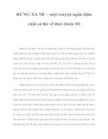 RỪNG XÀ NU – một truyện ngắn đậm chất sử thi về thời đánh Mĩ docx