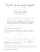Adaptive Narrative: How Autonomous Agents, Hollywood, and Multiprocessing Operating Systems Can Live Happily Ever After docx