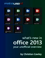 What's New In Office 2013: Your Unofficial Overview