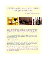 Nghiện Rượu có ảnh hưởng xấu cho bản thân, gia đình và xã hội potx