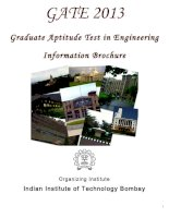 GATE 2013 Graduate Aptitude Test in Engineering Information Brochure pptx