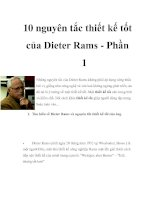 10 nguyên tắc thiết kế tốt của Dieter Rams - Phần 1 docx