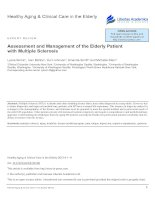 Assessment and Management of the Elderly Patient with Multiple Sclerosis pot