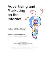 Advertising and Marketing on the Internet Rules of the road ppt
