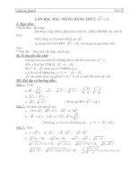 căn thức bậc hai và hằng đẳng thức - giáo án môn toán lớp 9