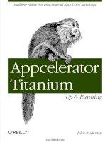 Appcelerator Titanium: Up and Running pot