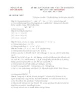 ĐỀ THI TUYỂN SINH LỚP 10 CHUYÊN TRƯỜNG THPT PTNK ĐHQG NĂM HỌC 2013- 2014 Môn thi: TOÁN potx