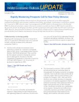 Rapidly Weakening Prospects Call for New Policy Stimulus ppt