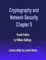 Cryptography and Network SecurityChapter 9 doc