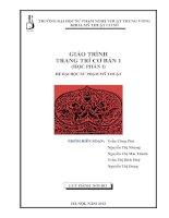 Giáo trình bộ môn Trang trí cơ bản học phần 1 pdf