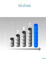 biểu đồ powerpoint hình thanh so sánh dữ liệu theo năm, bar chart