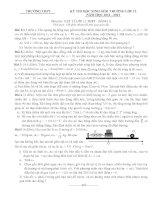 Đề thi học sinh giỏi vật lý 12 tỉnh hải dương đề 2