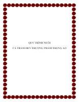 QUY TRÌNH NUÔI CÁ TRẮM ĐEN THƯƠNG PHẨM TRONG AO doc