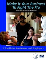 Make It Your Business To Fight The Flu: Promoting the Seasonal Flu Vaccine pot