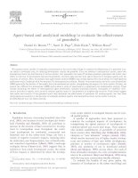 Agent-based and analytical modeling to evaluate the effectiveness of greenbelts potx