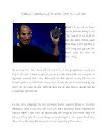 8 bài học từ nghệ thuật quản lý của Steve Jobs cho doanh nhân ppt