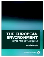 THE EUROPEAN ENVIRONMENT: STATE AND OUTLOOK 2010 pot