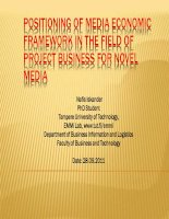 POSITIONING OF MEDIA ECONOMIC FRAMEWORK IN THE FIELD OF PROJECT BUSINESS FOR NOVEL MEDIA docx