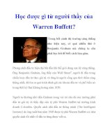 Học được gì từ người thầy của Warren Buffett? ppt