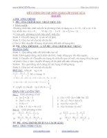 Đề cương ôn tập môn toán lớp 8 học kỳ II doc
