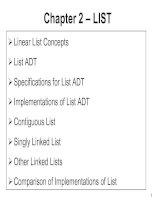 Data Structures and Algorithms - Chapter 2: LIST potx