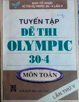 tuyển tập đề thi olympic 30 - 4 môn toán LẦN THỨ V
