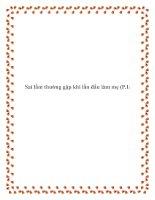 Sai lầm thường gặp khi lần đầu làm mẹ (P.1) pdf