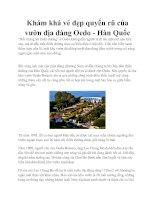 Khám khá vẻ đẹp quyến rũ của vườn địa đàng Oedo - Hàn Quốc doc
