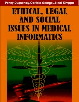 Ethical, Legal, and Social Issues in Medical Informatics pot