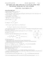 hệ thống hóa kiến thức vật lý và các công thức vật lý 12