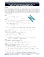 Bảo toàn khối lượng trong các bài toán hữu cơ đáp án và hướng dẫn giải bài tập tự luyện potx