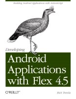 Developing Android Applications with Flex 4.5 pdf