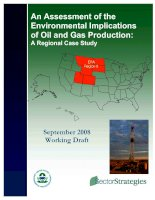 An Assessment of the Environmental Implications of Oil and Gas Production: A Regional Case Study pot