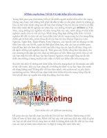 Affiliate marketing: Tiết lộ 4 bí mật kiếm tiền trên mạng pdf