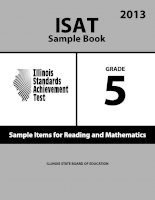 ISAT Sample Book 5: Sample Items for Reading and Mathematics 2013 doc