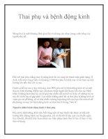 Thai phụ và bệnh động kinh pot