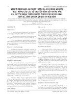 NGHIÊN CỨU ĐÁNH GIÁ THỰC TRẠNG VÀ XÂY DỰNG MÔ HÌNH HOẠT ĐỘNG CÂU LẠC BỘ KHUYẾN NÔNG CỦA NÔNG DÂN Ở 4 HUYỆN NGOẠI THÀNH THUỘC THÀNH PHỐ HỒ CHÍ MINH: NHÀ BÈ, BÌNH CHÁNH, CỦ CHI VÀ HÓC MÔN pptx