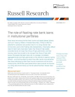 The role of floating-rate bank loans in institutional portfolios pdf
