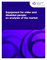 Equipment for older and disabled people: an analysis of the market potx