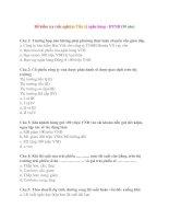 Đề kiểm tra trắc nghiệm Tiền tệ ngân hàng - HVNH (30 câu) pptx