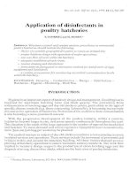 Application of disinfectants in poultry hatcheries potx