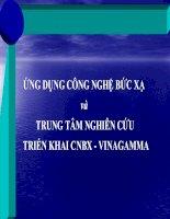 ỨNG DỤNG CÔNG NGHỆ BỨC XẠ và TRUNG TÂM NGHIÊN CỨU TRIỂN KHAI CNBX - VINAGAMMA pot