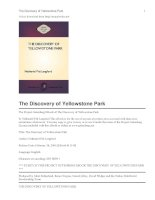 The Discovery of Yellowstone Park docx