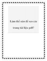 Làm thế nào để seo các trang tài liệu pdf? potx