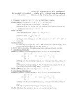 Đề Thi Thử Đại Học Toán 2013 - Đề 17 pdf