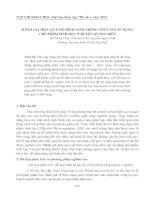 ĐÁNH GIÁ HIỆU QUẢ MÔ HÌNH NUÔI TRỒNG THỦY SẢN SỬ DỤNG CHẾ PHẨM SINH HỌC Ở HUYỆN QUẢNG ĐIỀN docx