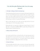 Các cách đơn giản để phòng tránh virus trên mạng internet! ppt