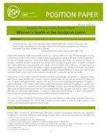 European Women's Lobby Position Paper: Women's Health in the European Union ppt
